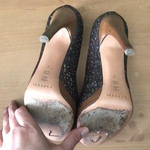Casadei Shoes - Casadei Italian Brown Heels, Peep Toe